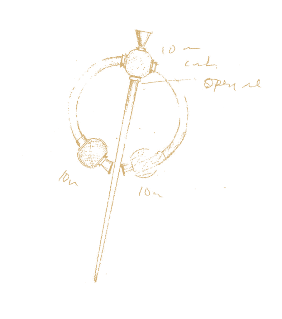Breda Haugh Jewellery Thistle Brooch Sketch Gold