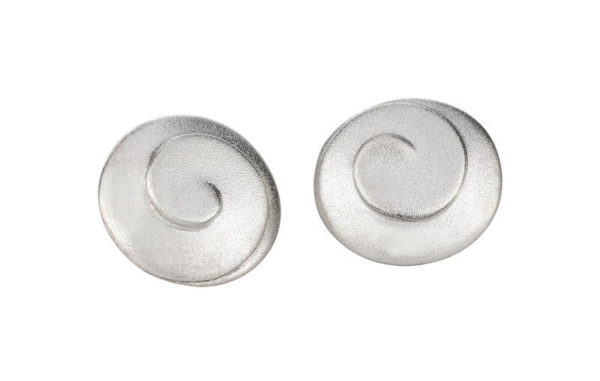 Product Modern Spiral Collection Large Sterling Silver Earstuds Jewellery