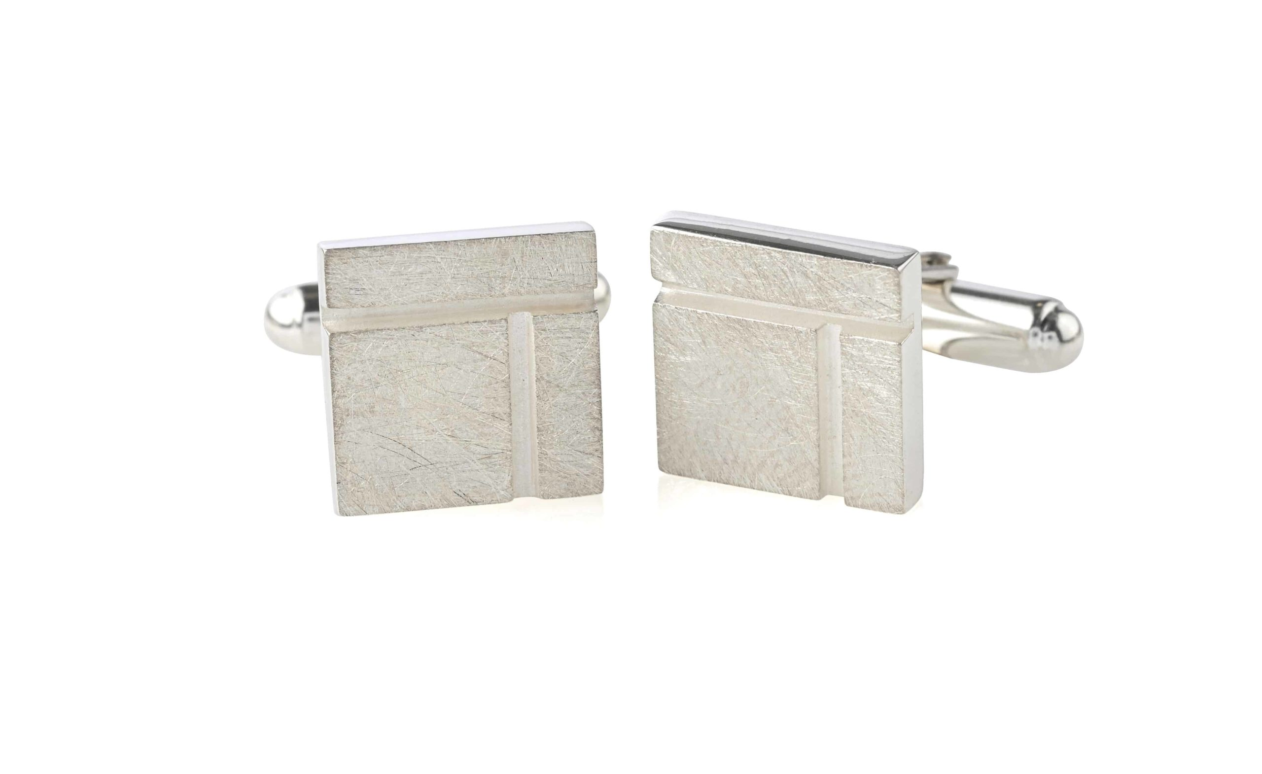 Product Ogham Birch Square Cufflinks Jewellery