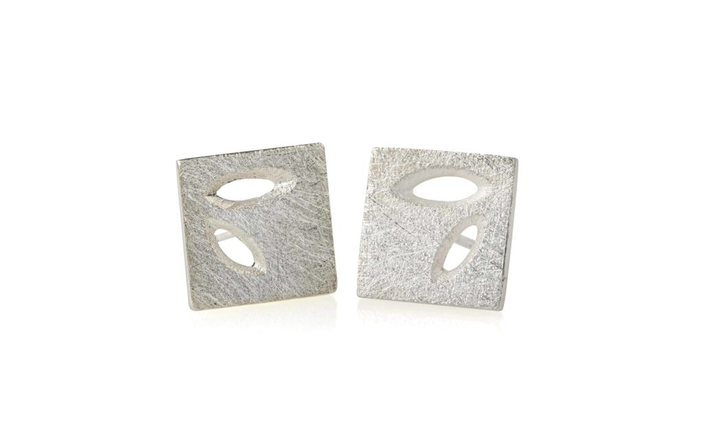 Product Silver Lace Leaf Earstuds Pendant Jewellery