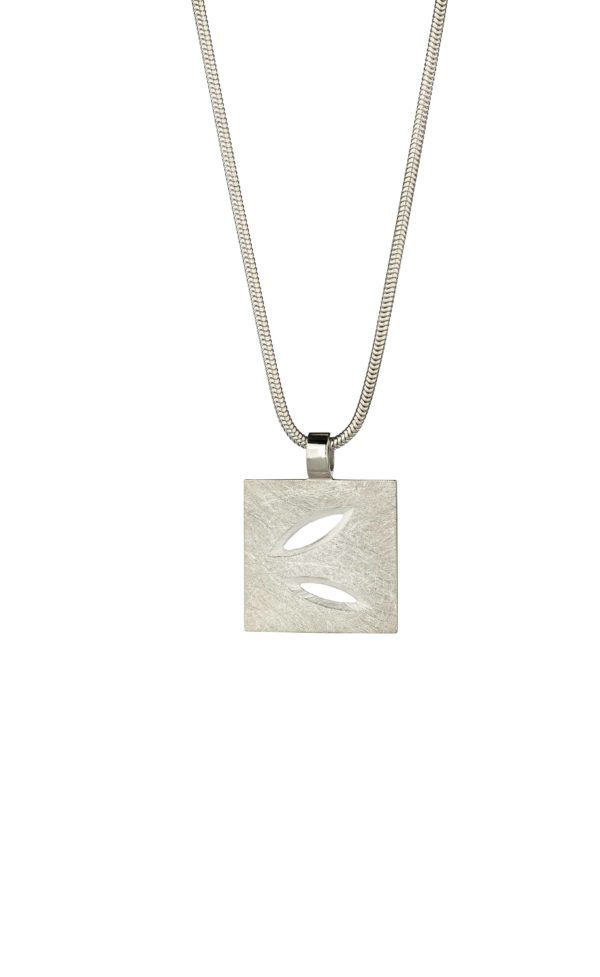 Product Silver Lace Leaf Large Pendant Jewellery