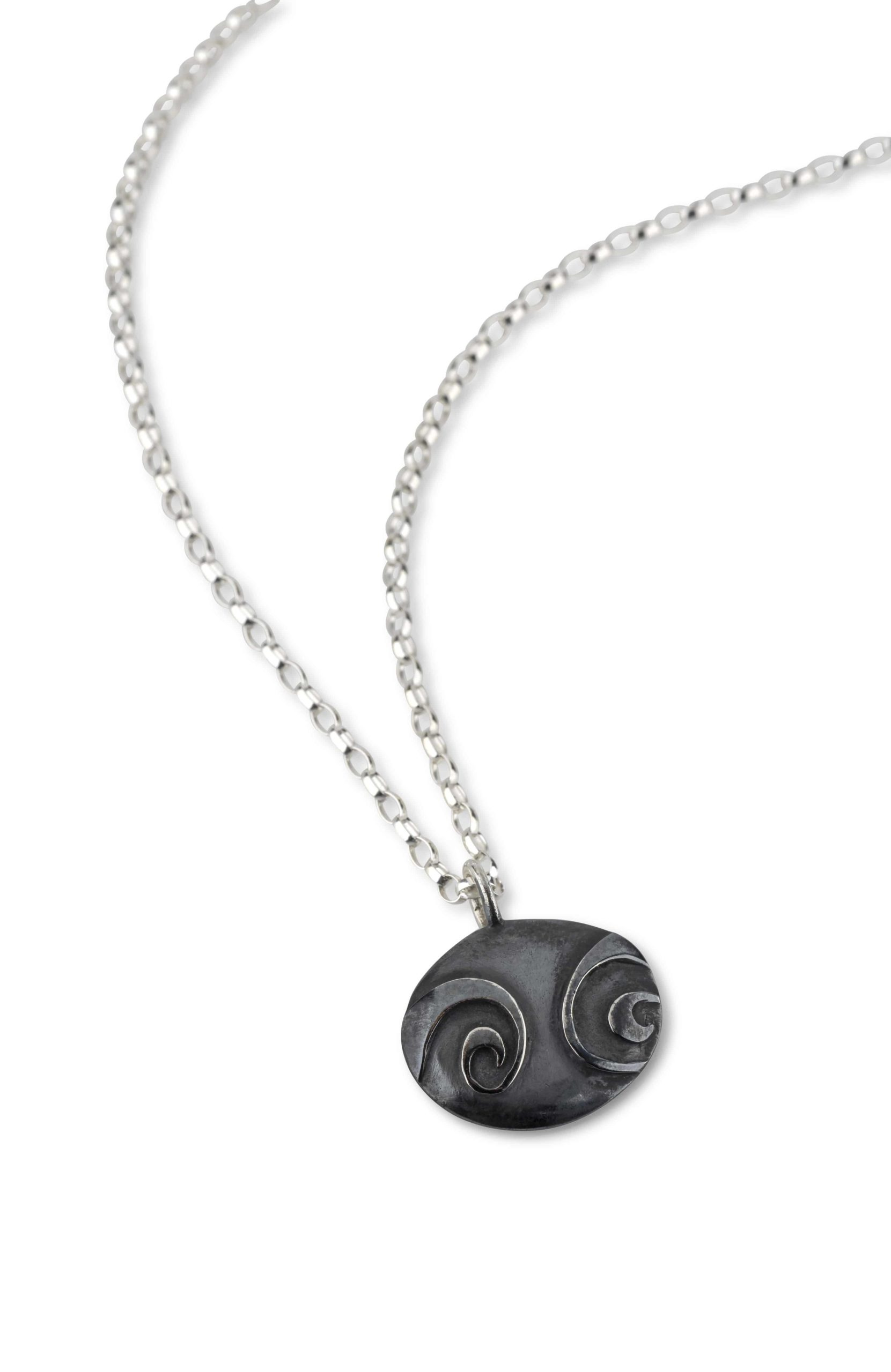 Product Spiral Pebble Medium Pendant Pendant Jewellery