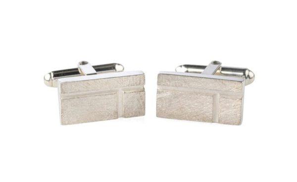 Product Ogham Birch Oblong Cufflinks Jewellery