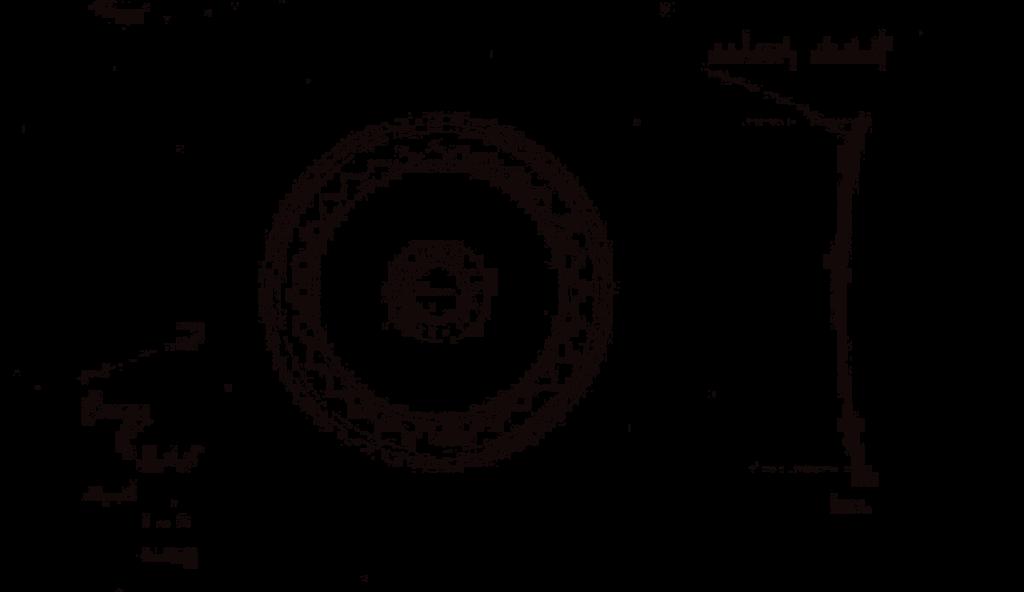 Sun Disc Sketch Jewellery Black