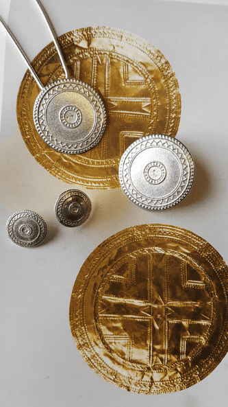 Gold Sun Disc Jewellery Commission