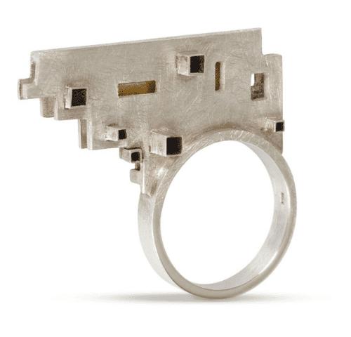 A Little Nonsense Silver Ring for Dublin Exhibition